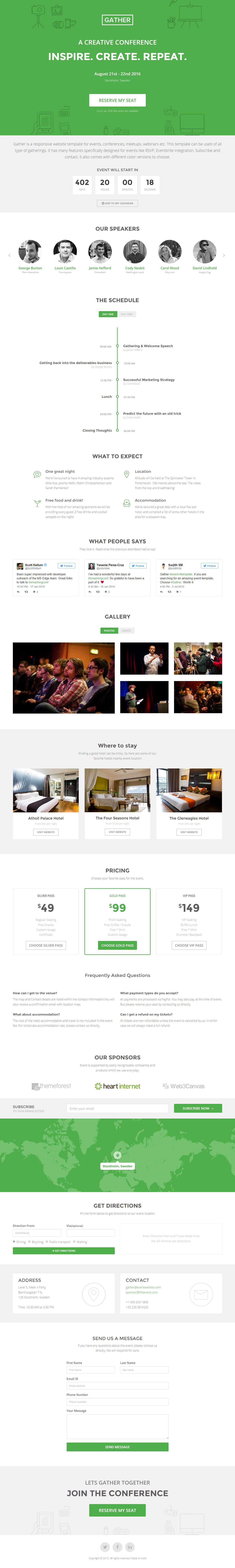 Gather Website Screenshot