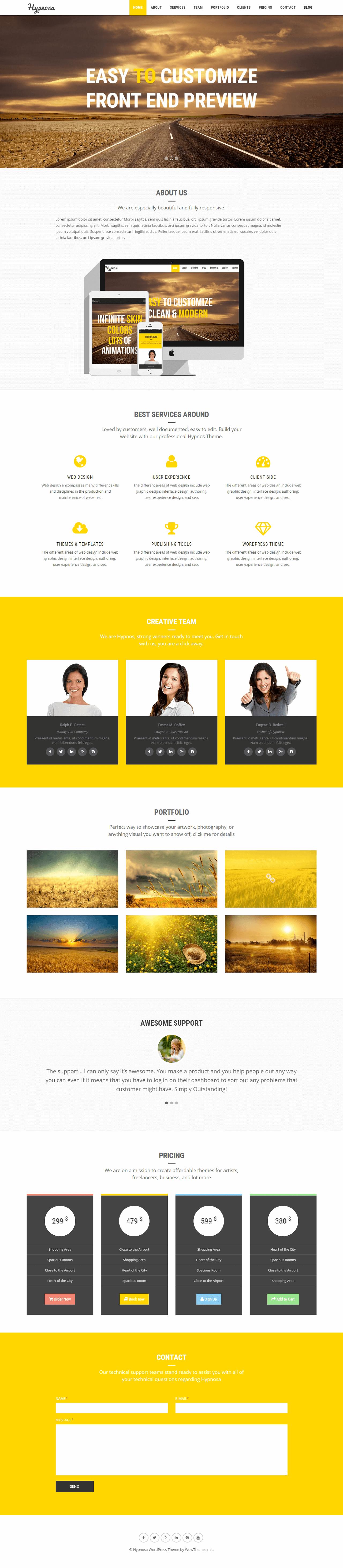 Hypnosa Website Screenshot