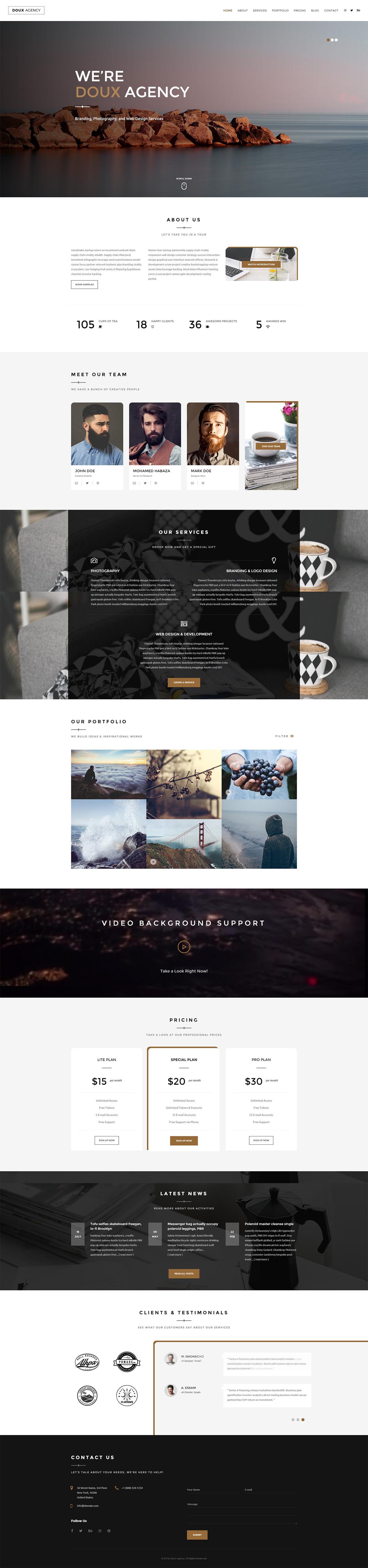 Doux Website Screenshot
