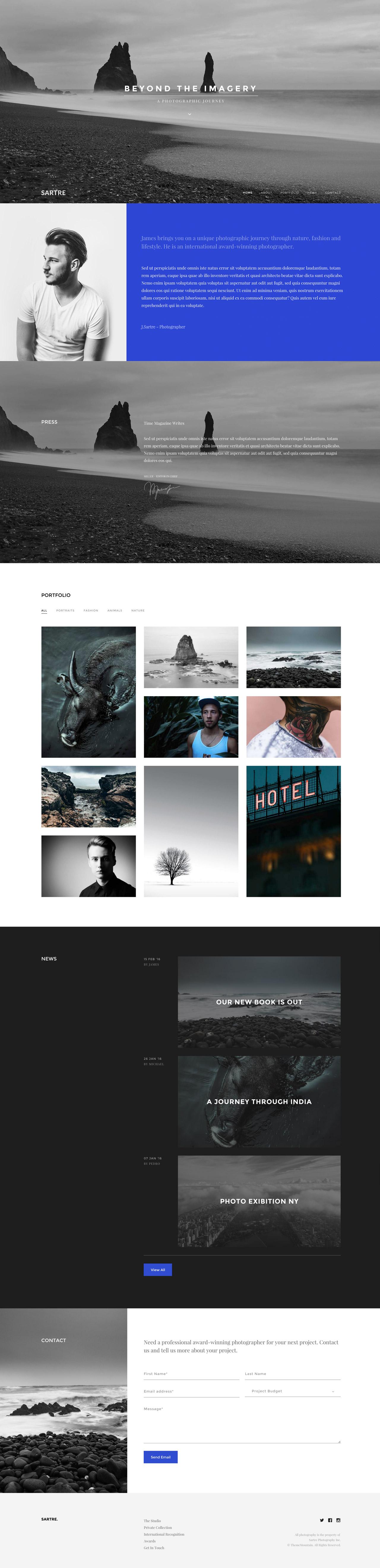 Sartre Website Screenshot