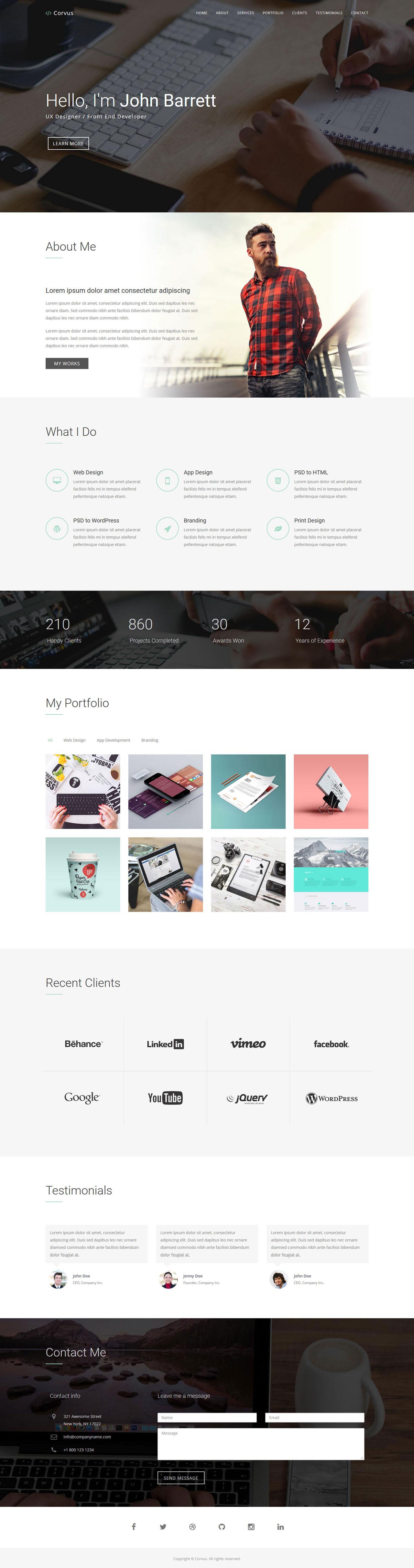 Corvus Website Screenshot