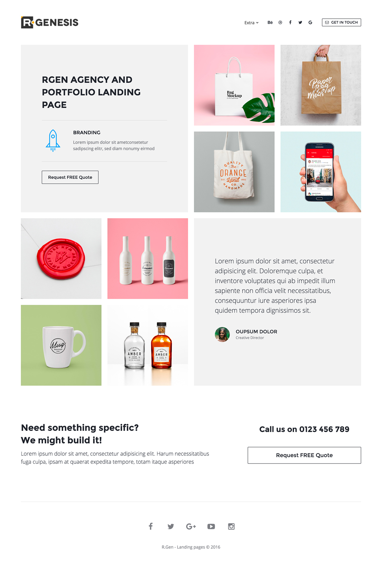 R.Gen – Agency Landing Page Website Screenshot