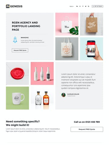 R.Gen – Agency Landing Page Thumbnail Preview